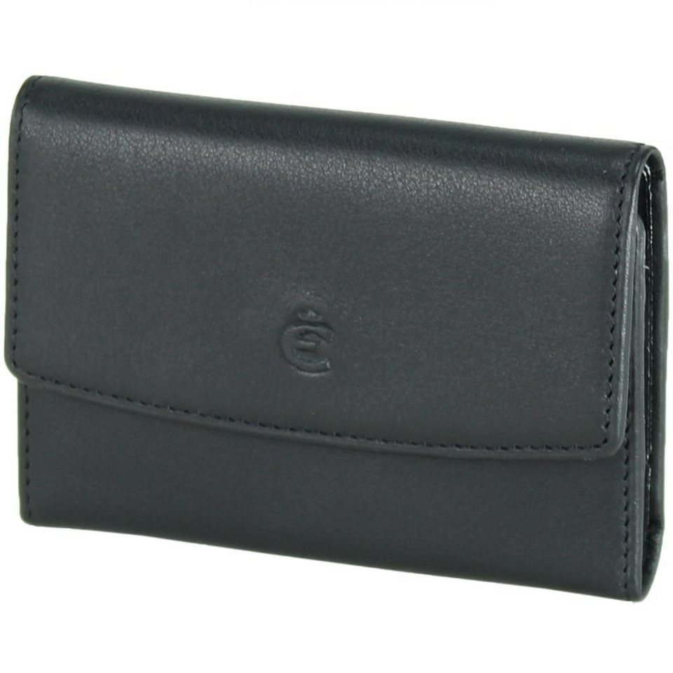Esquire Logo Schlüsseletui Leder 10 cm in schwarz