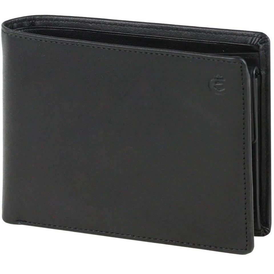 Esquire Esquire Logo Geldbörse Leder 12,5 cm in schwarz