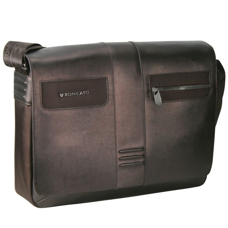 RONCATO Heritage Messenger 41 cm Laptopfach in bronzo brown