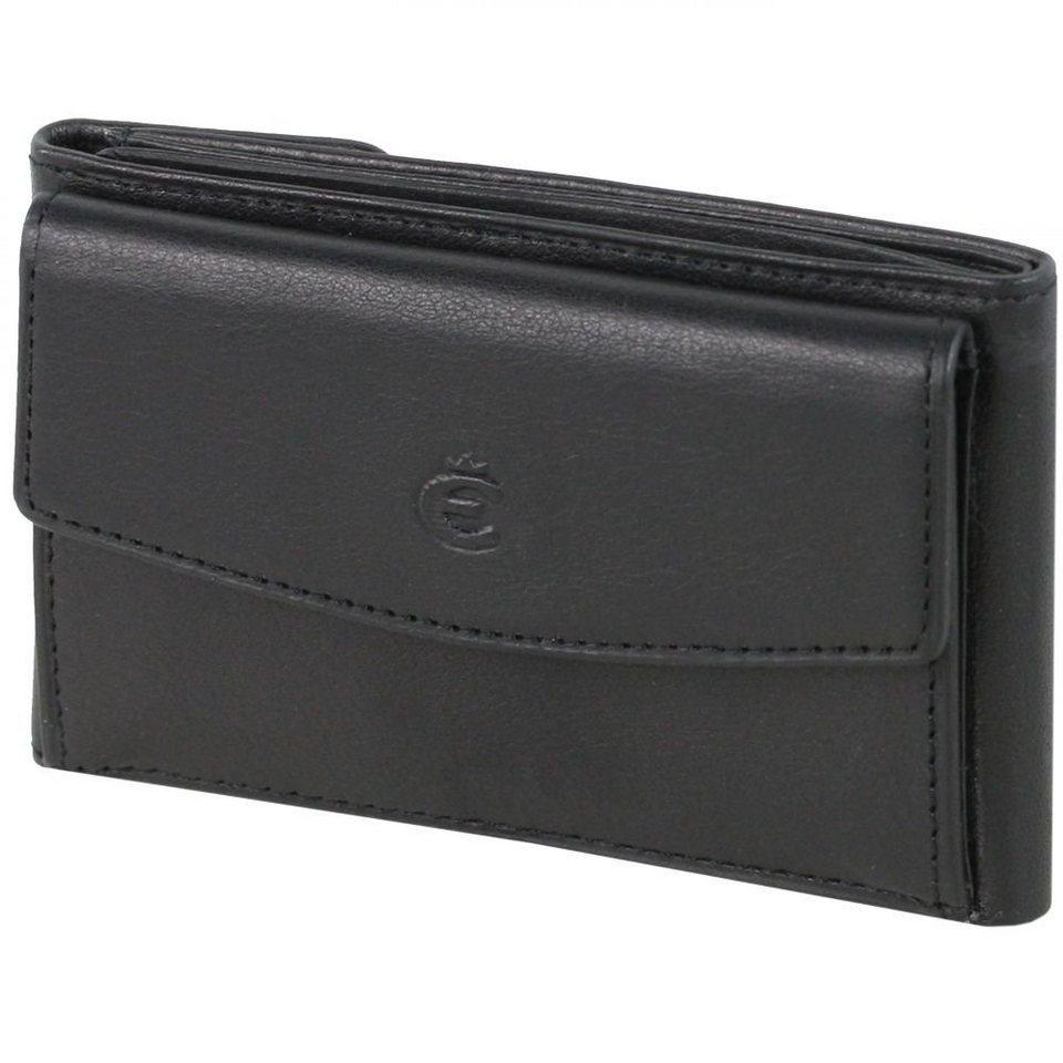 Esquire Logo Geldbörse Leder 10,5 cm in schwarz
