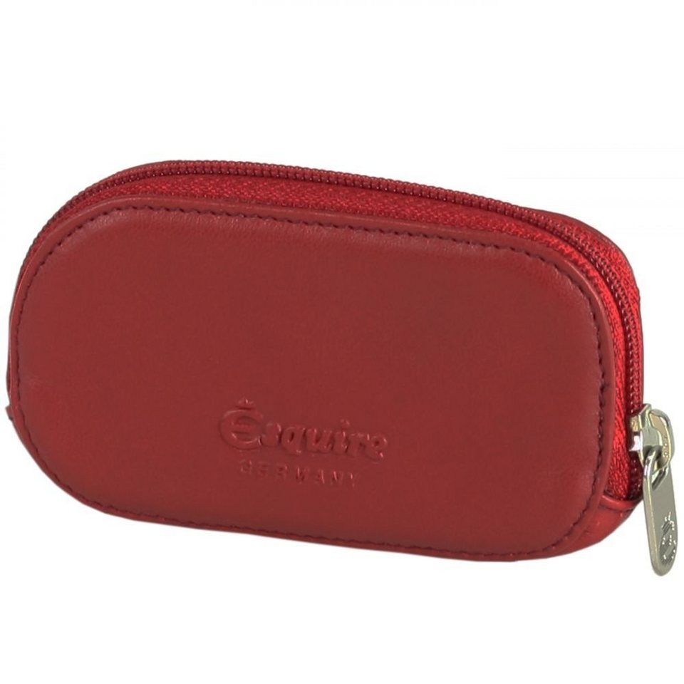 Esquire Logo Schlüsseletui Leder 10 cm in rot