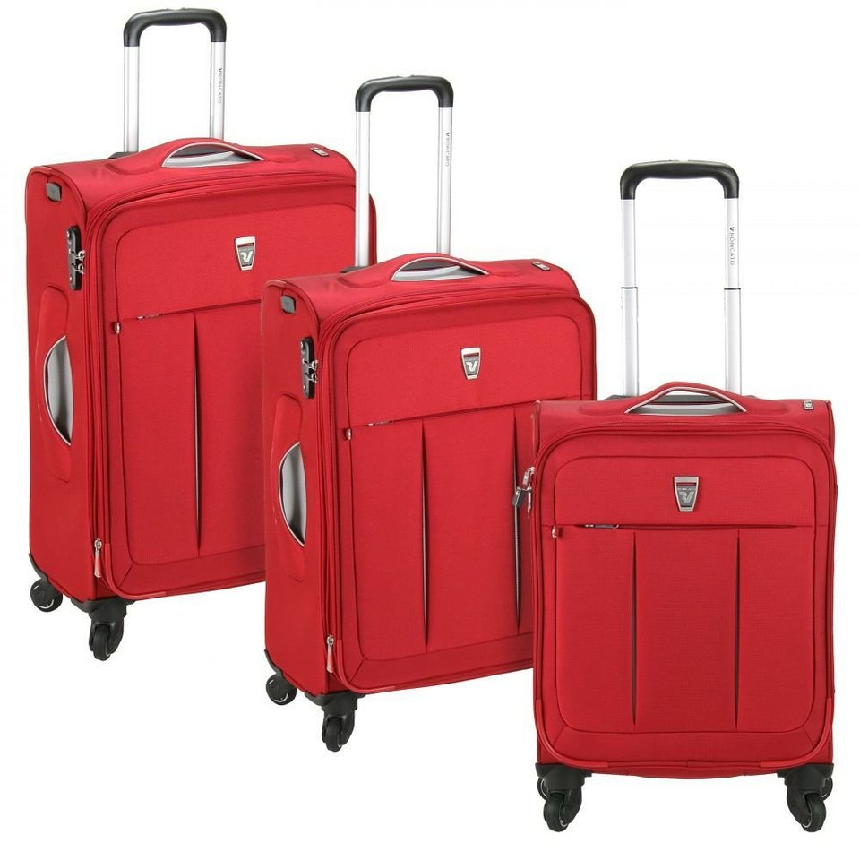 RONCATO Polylight 4-Rollen Trolleyset 3tlg. in rosso