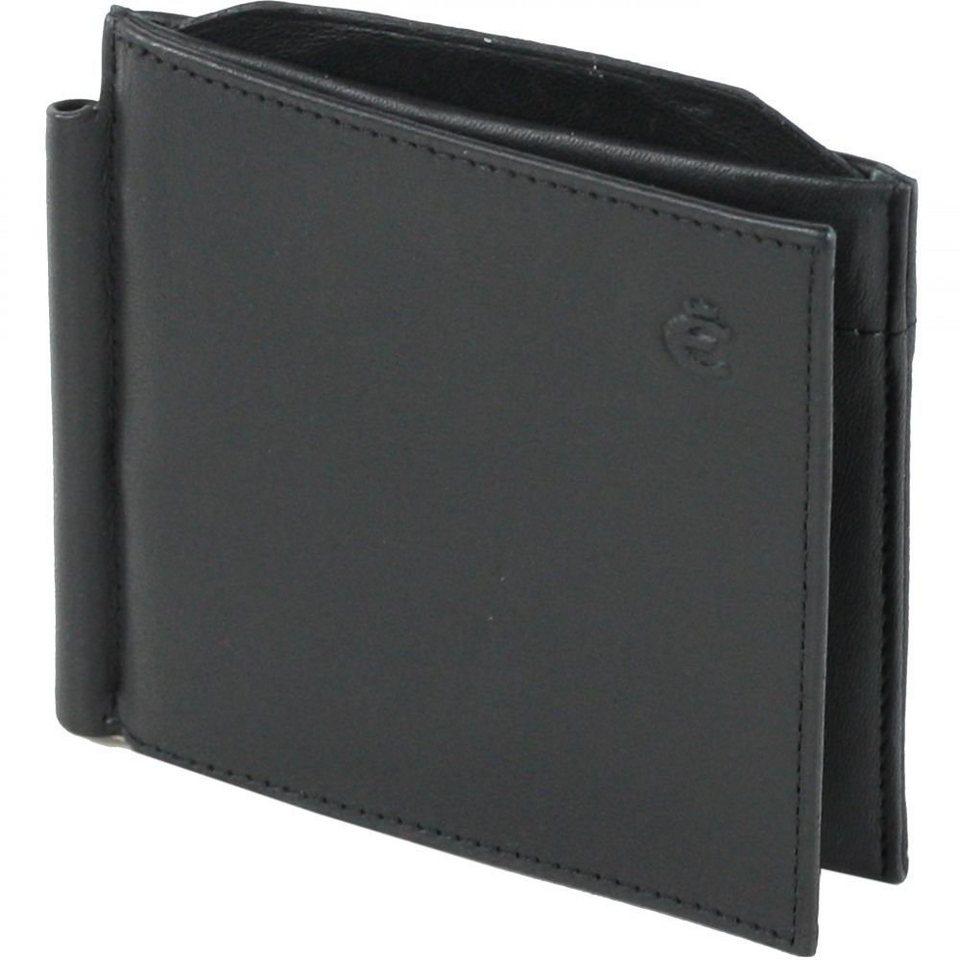 Esquire Logo Geldbörse Leder 10 cm in schwarz