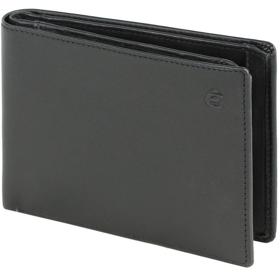Esquire Esquire Logo Kreditkartenetui Leder 12 cm in schwarz