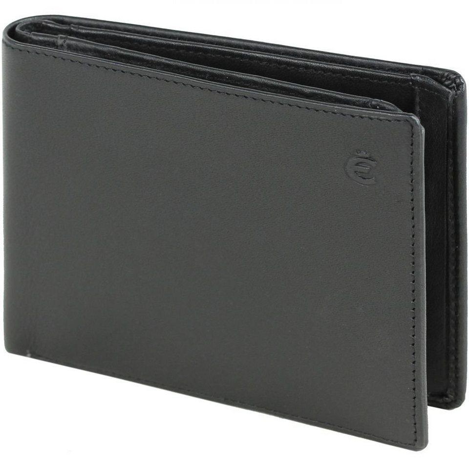 Esquire Logo Kreditkartenetui Leder 12 cm in schwarz