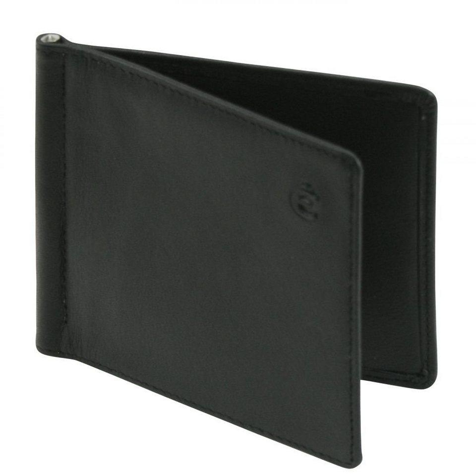 Esquire Logo Scheintasche Leder 10 cm in schwarz