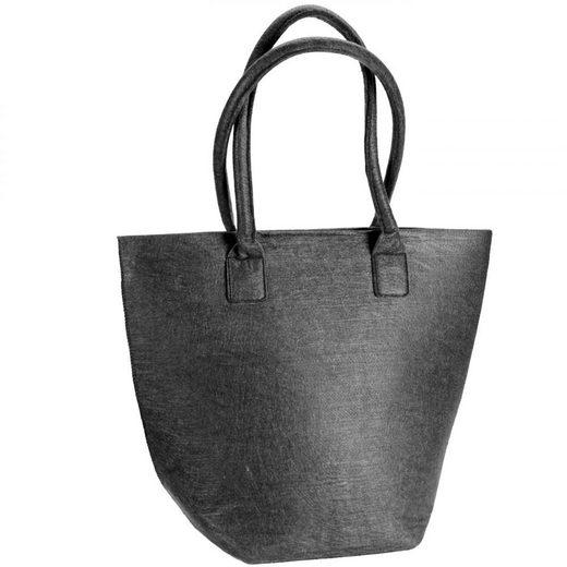 Dermata Handtasche Shopper Filz 45 cm
