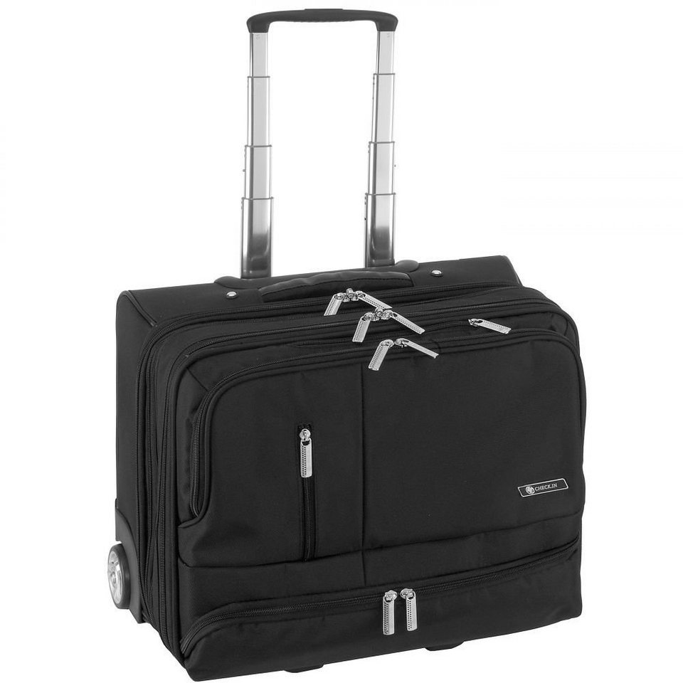 444bfe83db6c5 CHECK.IN® Frankfurt 2-Rollen Business Trolley 42 cm Laptopfach ...