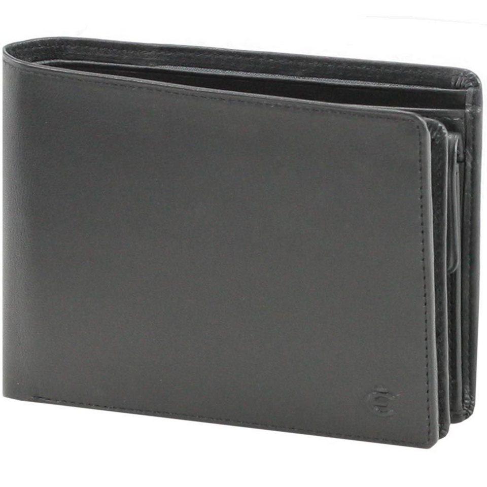 Esquire Logo Geldbörse Leder 12,5 cm in schwarz