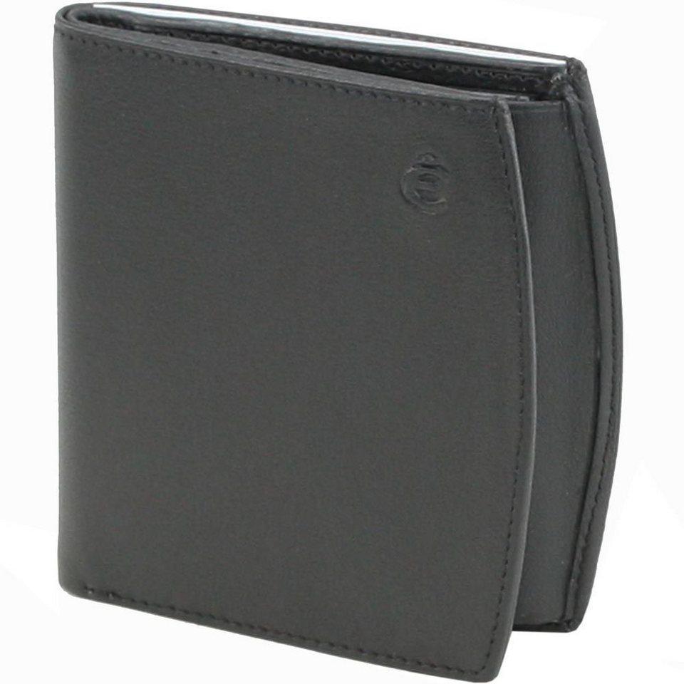 Esquire Logo Geldbörse Leder 9 cm in schwarz