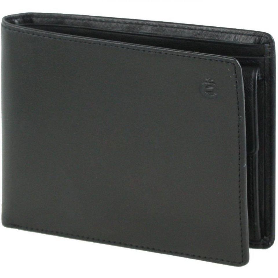 Esquire Esquire Logo Geldbörse Leder 12 cm in schwarz