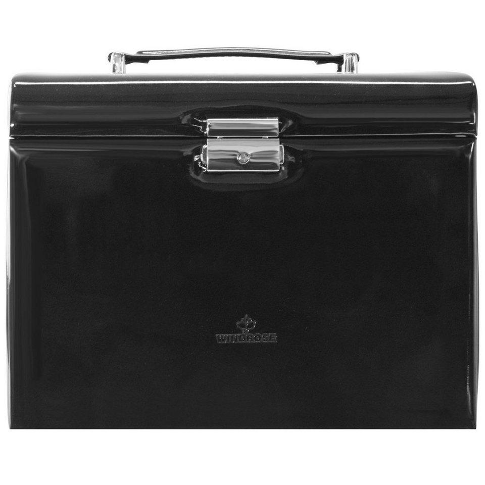 Windrose Glamour Charmbox Schmuckkoffer 26 cm in schwarz