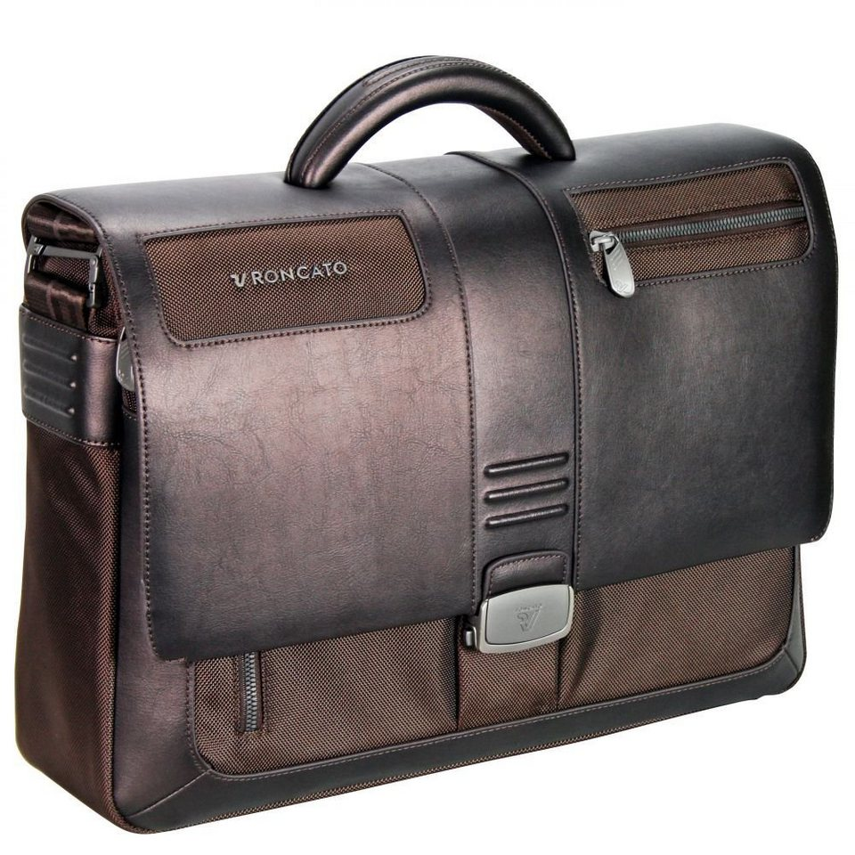 RONCATO Heritage Aktentasche 43 cm Laptopfach in bronzo brown