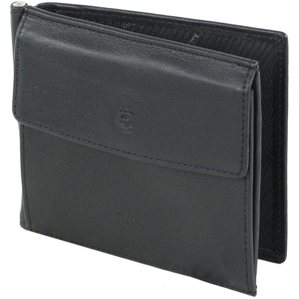 Esquire Logo Geldbörse Leder 11 cm in schwarz
