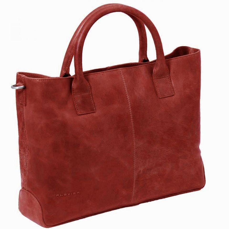 Plevier Plevier 700er Serie spieziell für Damen Laptoptasche Leder 42 cm in rot