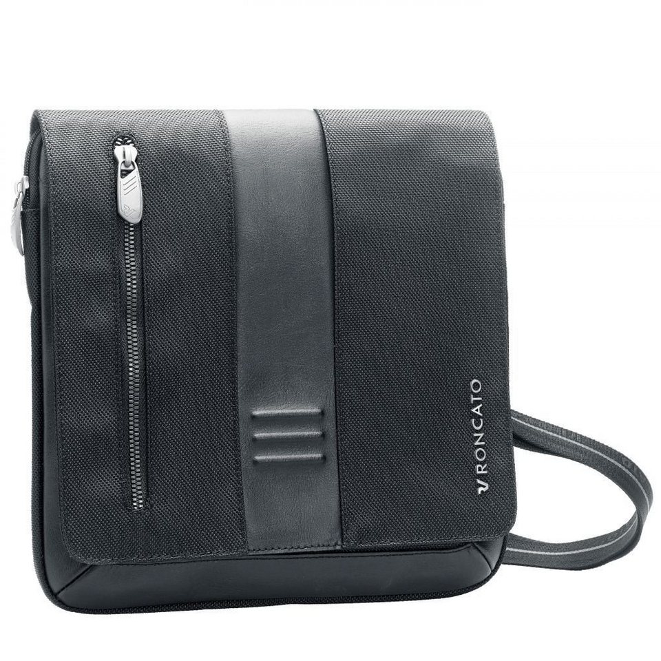RONCATO Roncato Heritage Flap Bag 26 cm in antracite