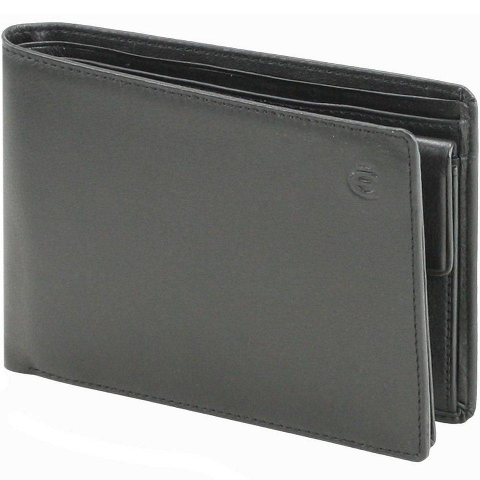 Esquire Logo Geldbörse Leder 13 cm in schwarz