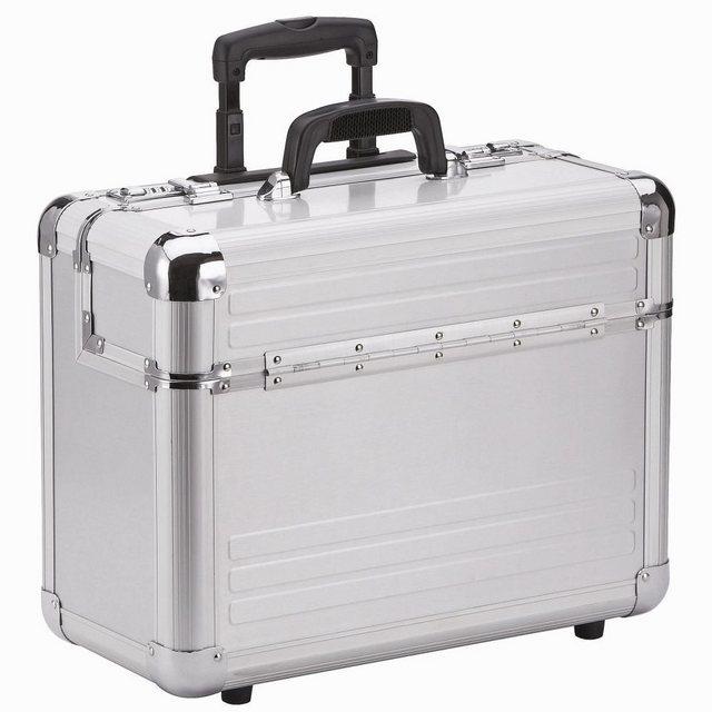 Dermata Aluminium Pilotenkoffer Trolley 46,5 cm Laptopfach | Taschen > Koffer & Trolleys > Trolleys | Dermata