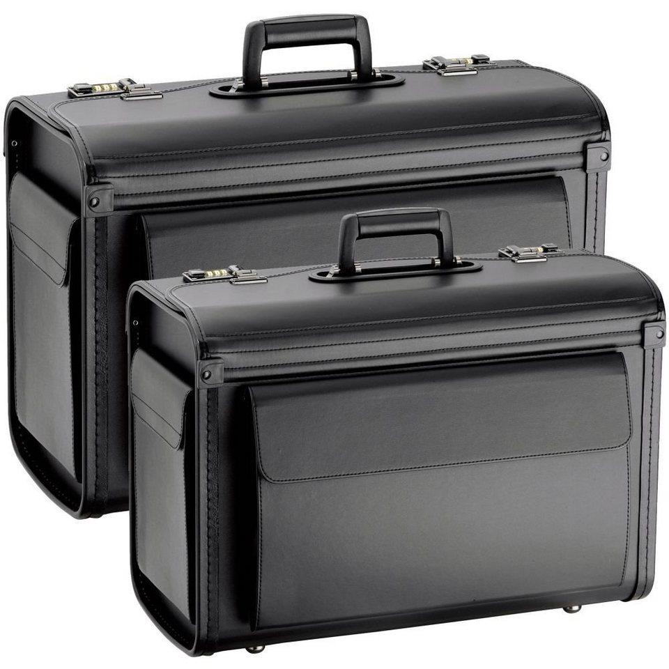 d & n Business & Travel 2 Pilotenkoffer 2-tlg. Set in schwarz