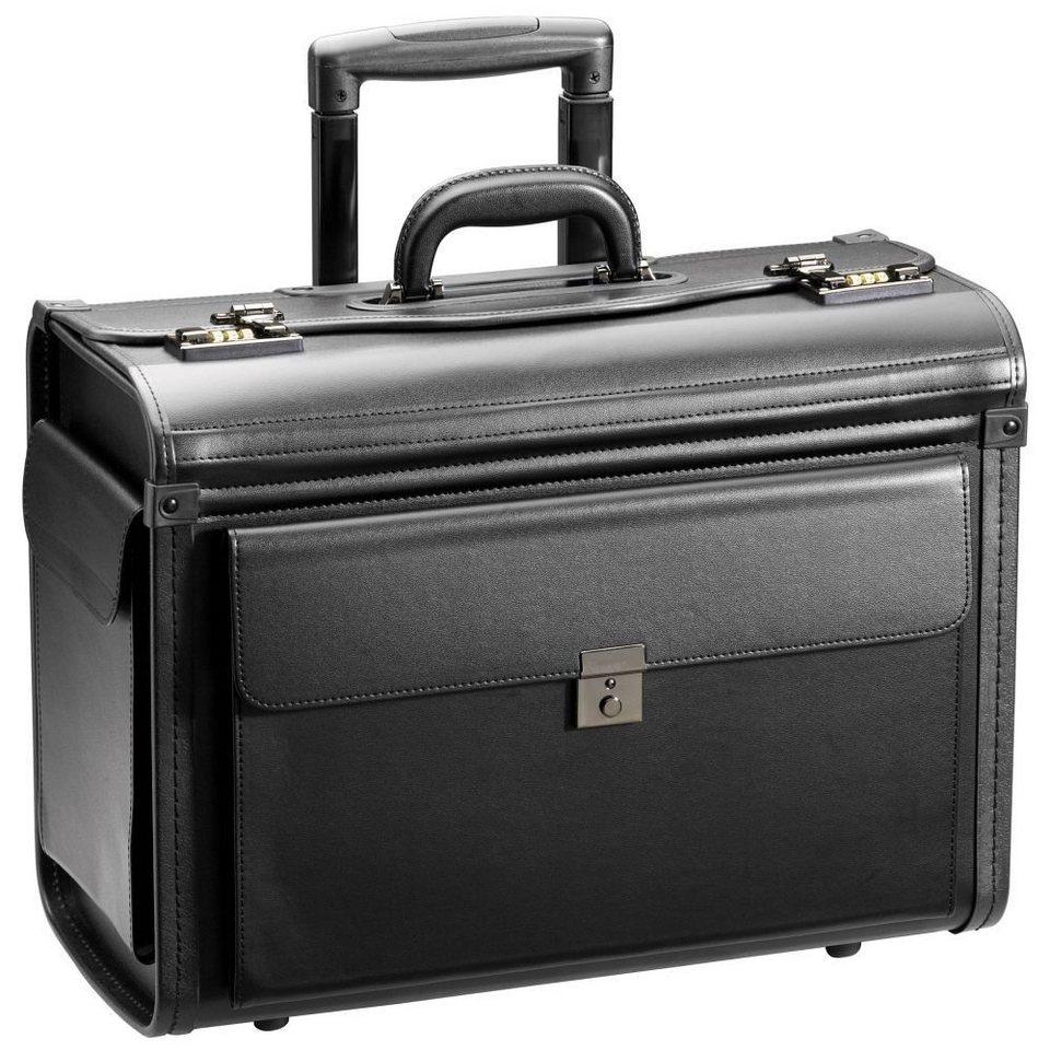 d & n Business & Travel Pilotenkoffer Trolley 48 cm in schwarz