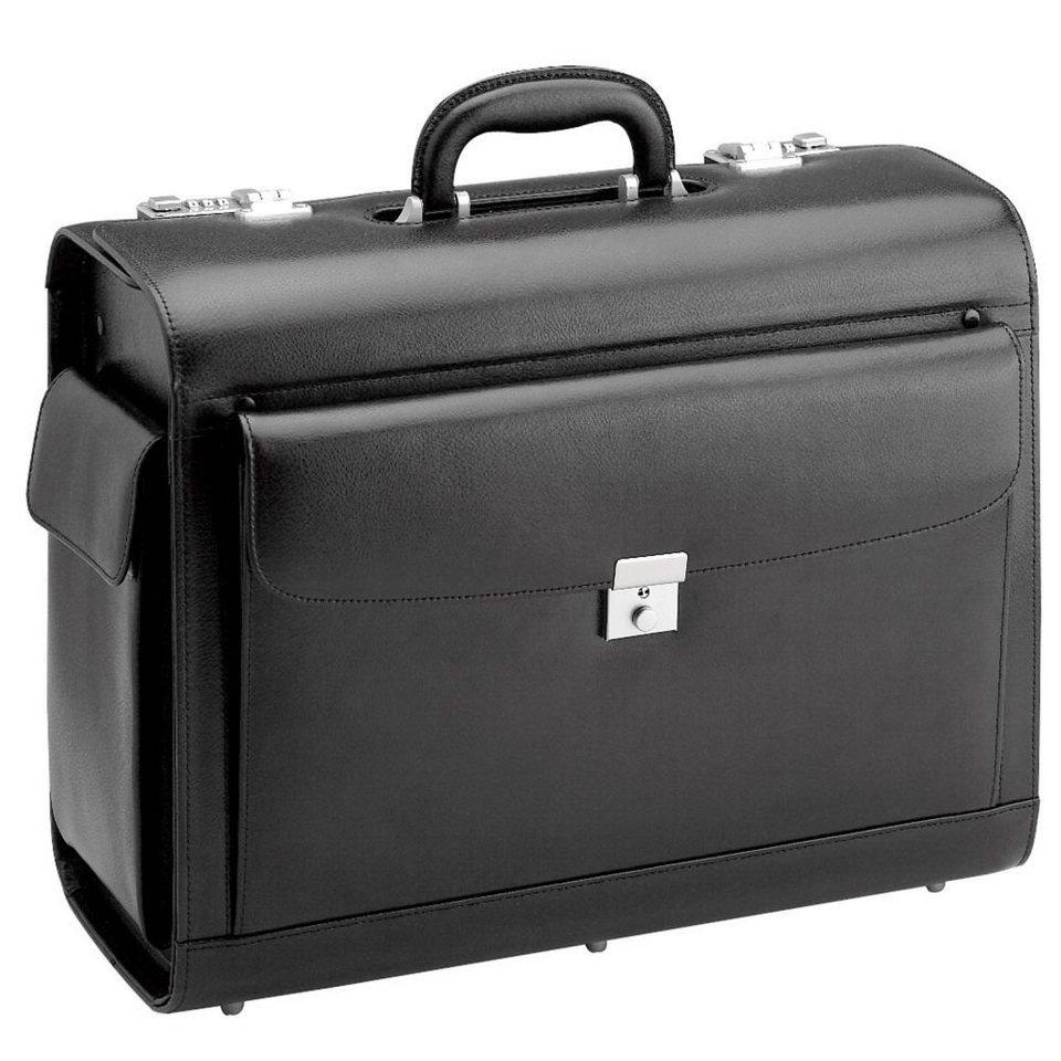 d & n d&n Business & Travel Pilotenkoffer Leder 45 cm in schwarz