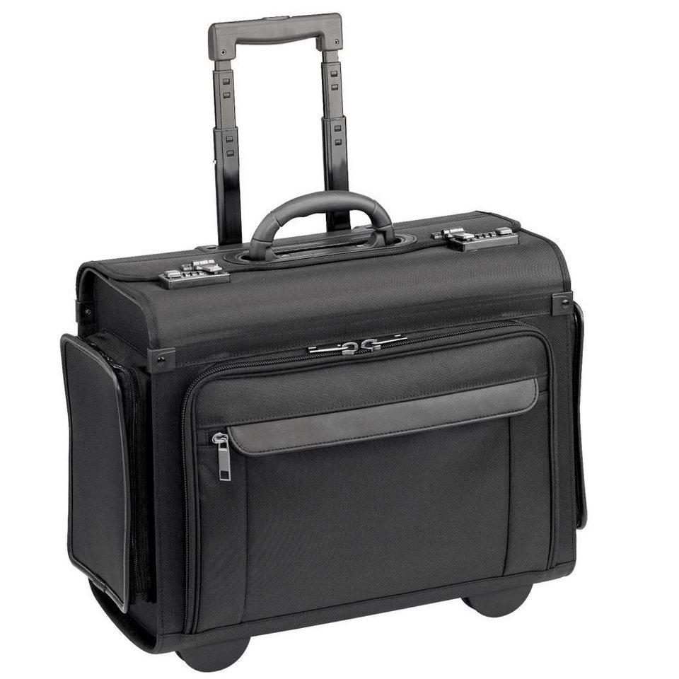 d & n Business & Travel Pilotenkoffer Trolley 46 cm Laptopfach in schwarz