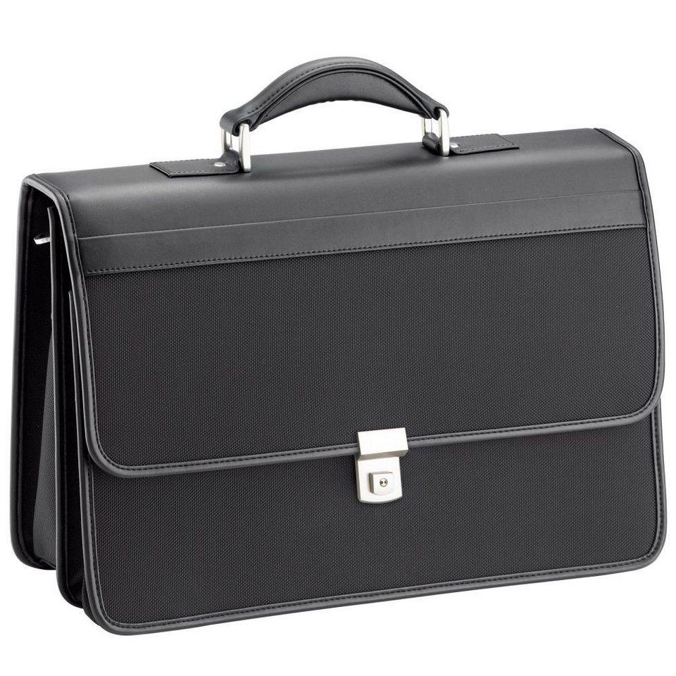 d & n d&n Basic Aktentasche 43 cm Laptopfach in schwarz