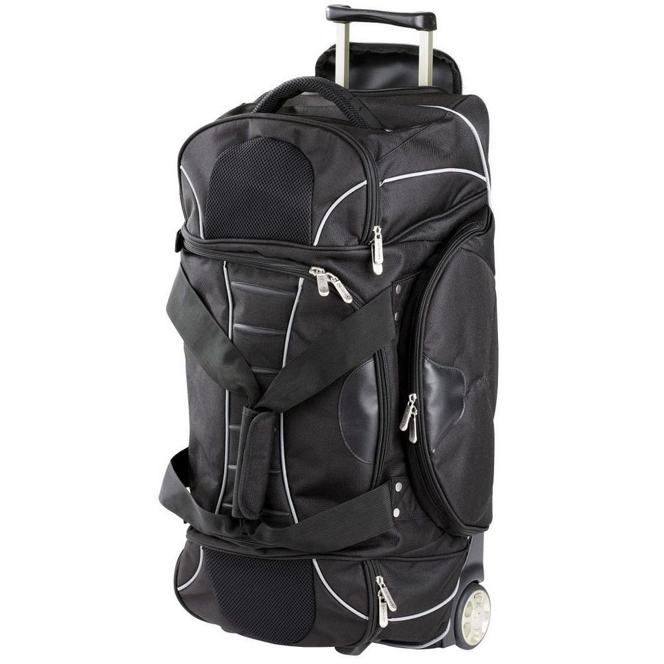Dermata Dermata 2-Rollen Reisetasche Rollenreisetasche 67 cm in schwarz