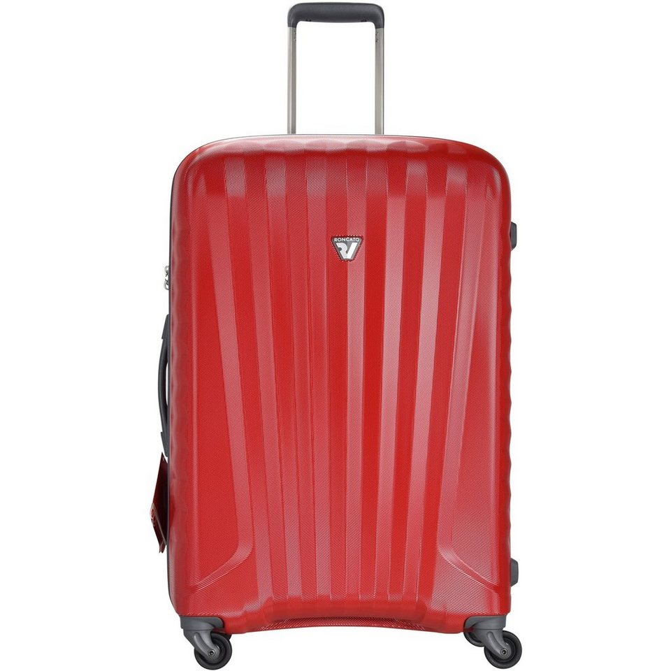 Roncato Roncato UNO ZIP 4-Rollen Trolley 78 cm in rosso