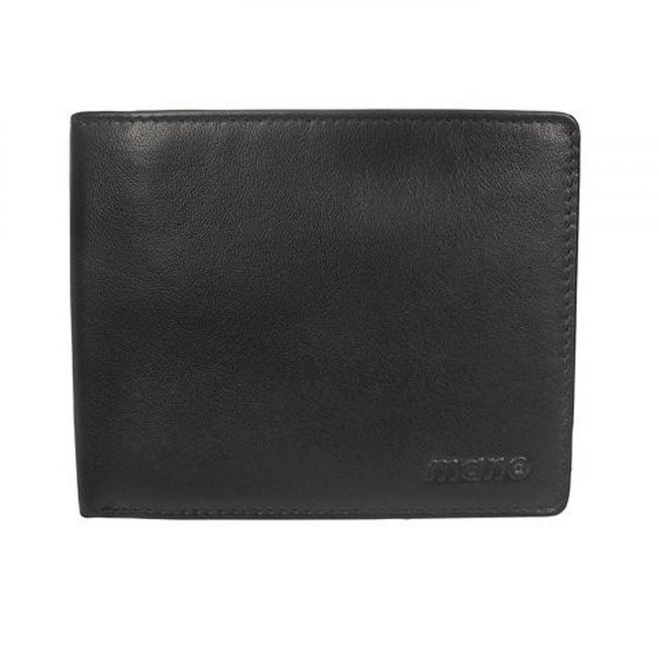 MANO mano Nappa 1000 Geldbörse Leder 10 cm in schwarz