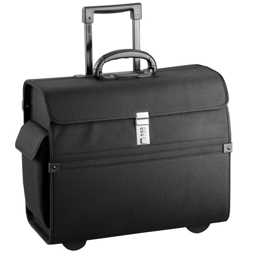 d & n Business & Travel Pilotentrolley 46 cm Laptopfach in schwarz