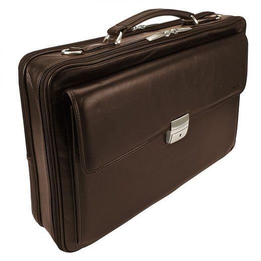 MANO Oxford Aktentasche Leder 45 cm Laptopfach