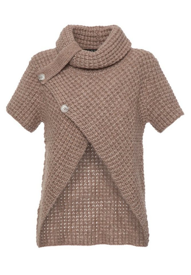 Apart Pullover Kurzarm in taupe