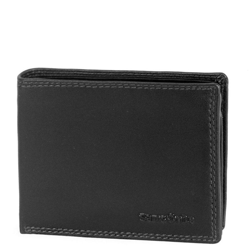 Samsonite Attack SLG kleine Geldbörse Leder 10 cm in black