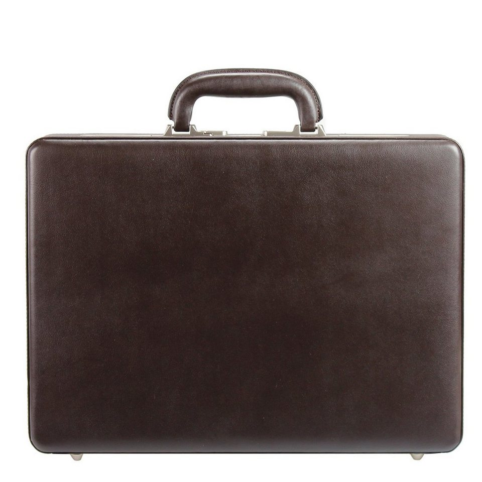 Dermata Aktenkoffer Leder 45,5 cm in braun