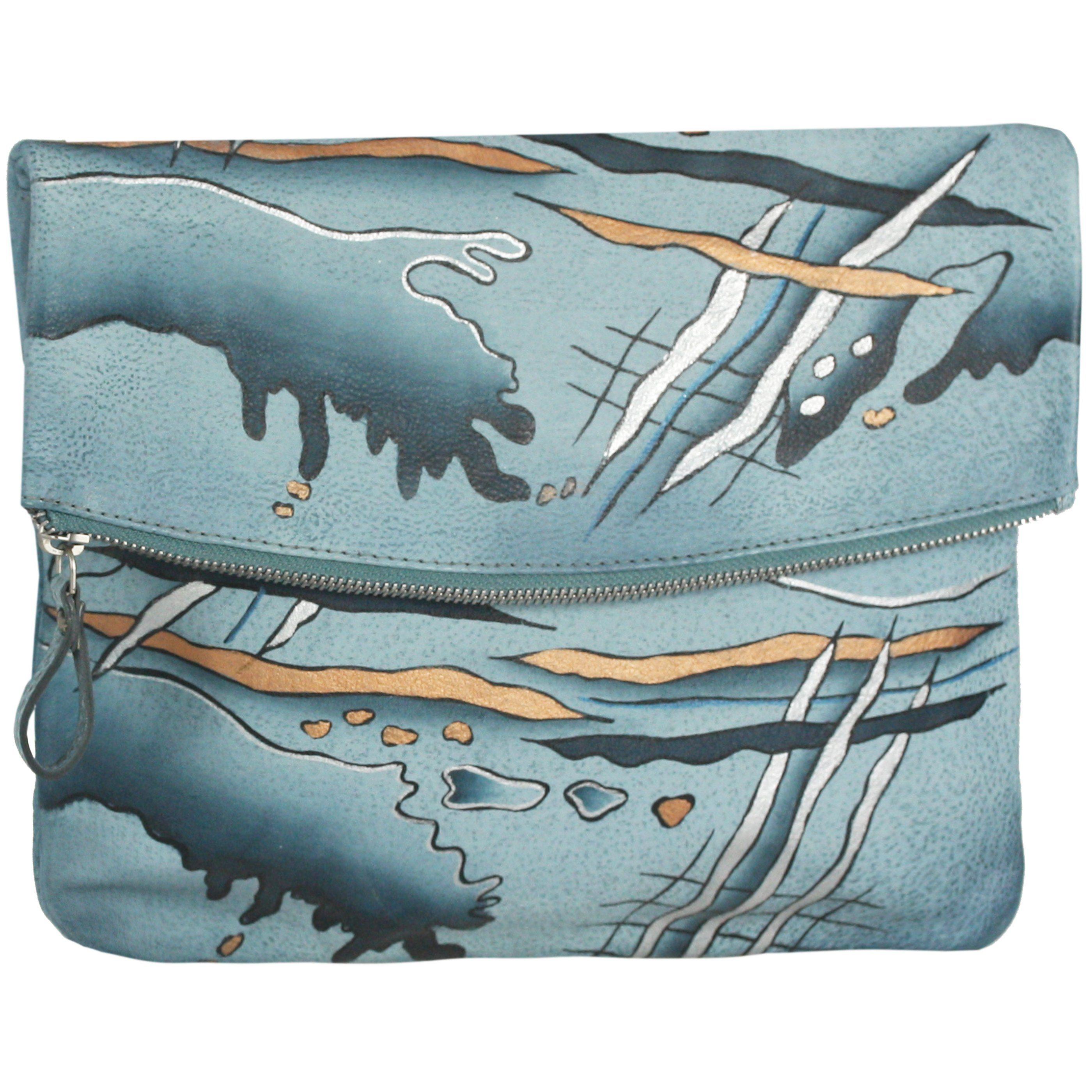 GREENLAND Art + Craft Flap Bag Umhängetasche Leder 29 cm