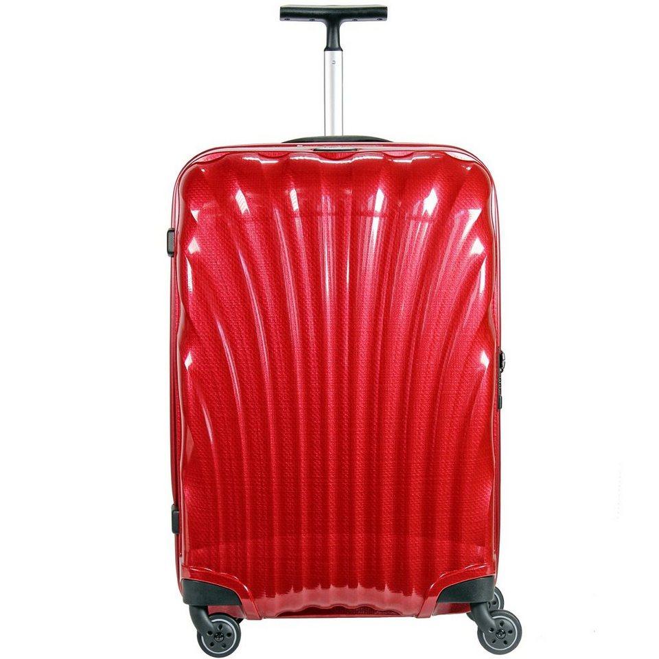 Samsonite Cosmolite Spinner 4-Rollen Kabinen-Trolley 55 cm in red