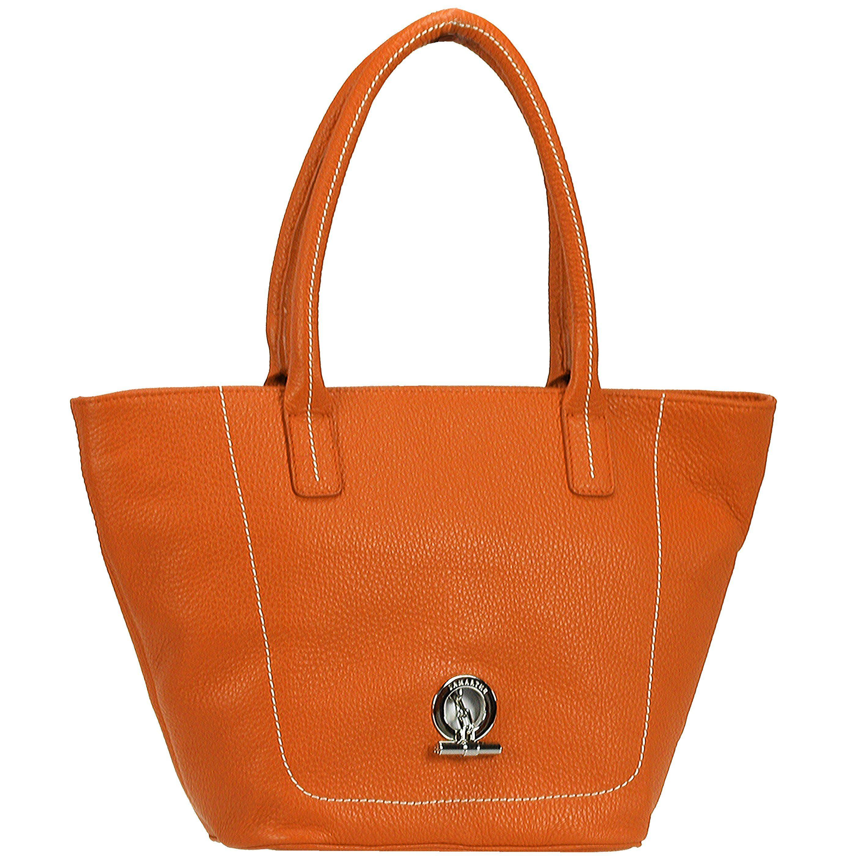 Lamarthe Paris Shopper Tasche Leder 21 cm