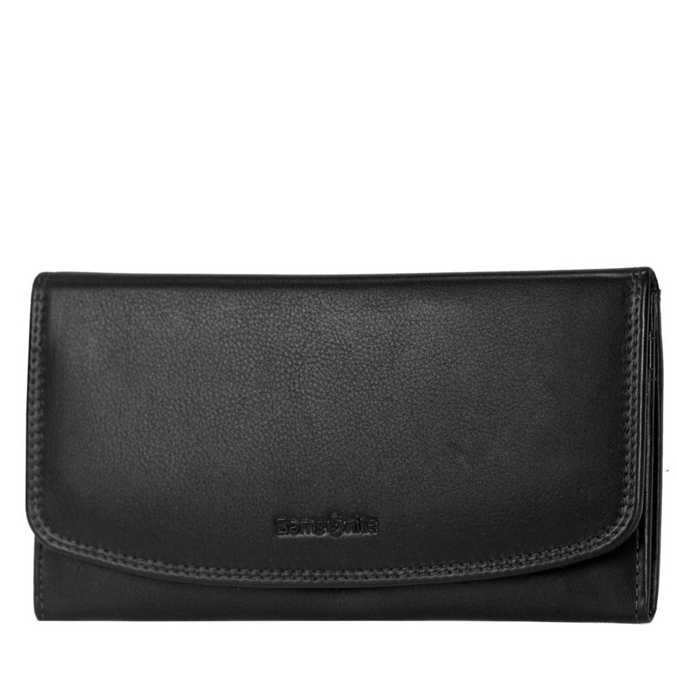 Samsonite Samsonite Attack SLG Damen-Langgeldbörse Leder 17,5 cm in black