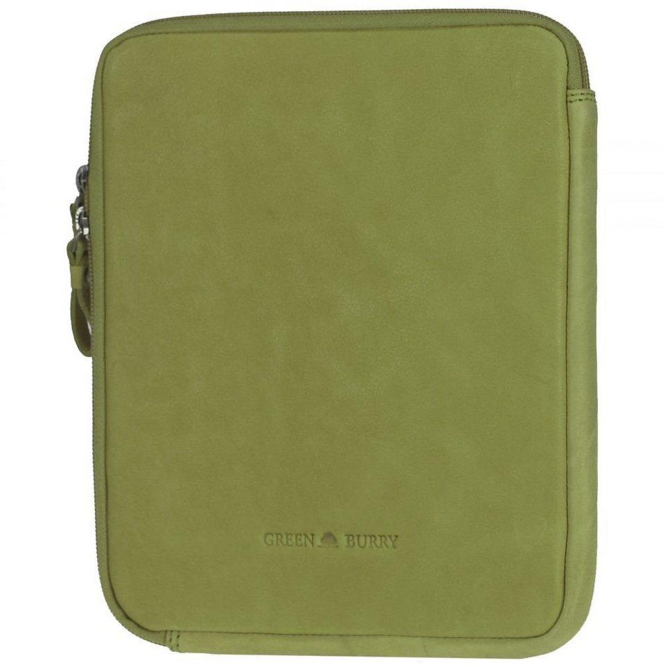 Greenburry Colorado iPad Case Leder 21,5 cm in lime