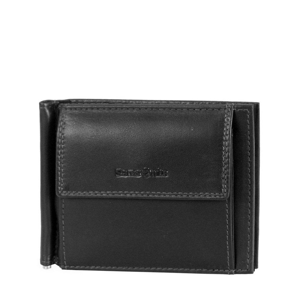 Samsonite Attack SLG Dollarclip Geldbörse Leder 10 cm in black