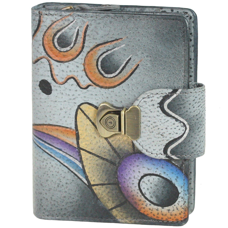 GREENLAND Art + Craft Geldbörse Leder 10,5 cm