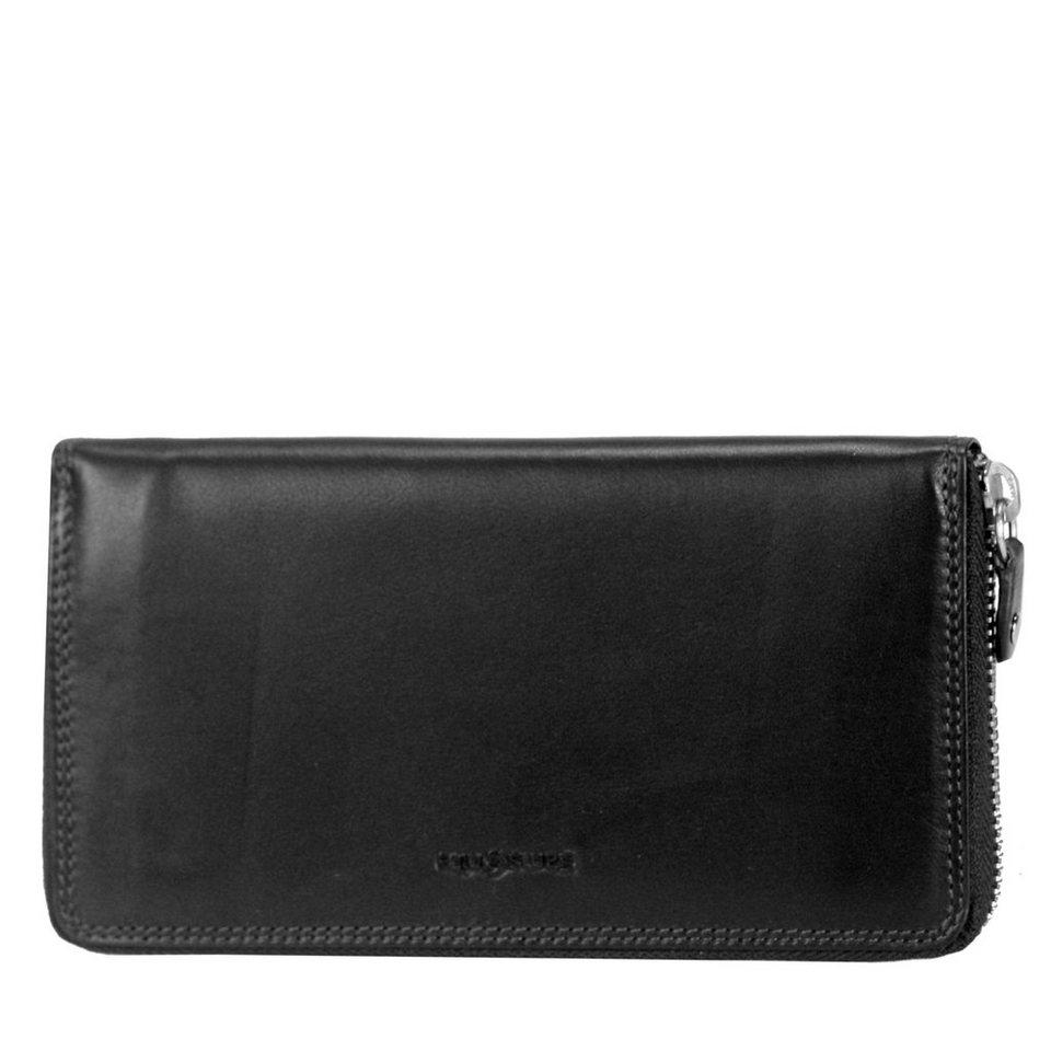 Samsonite Samsonite Attack SLG Reißverschluss-Geldbörse Leder 19 cm in black