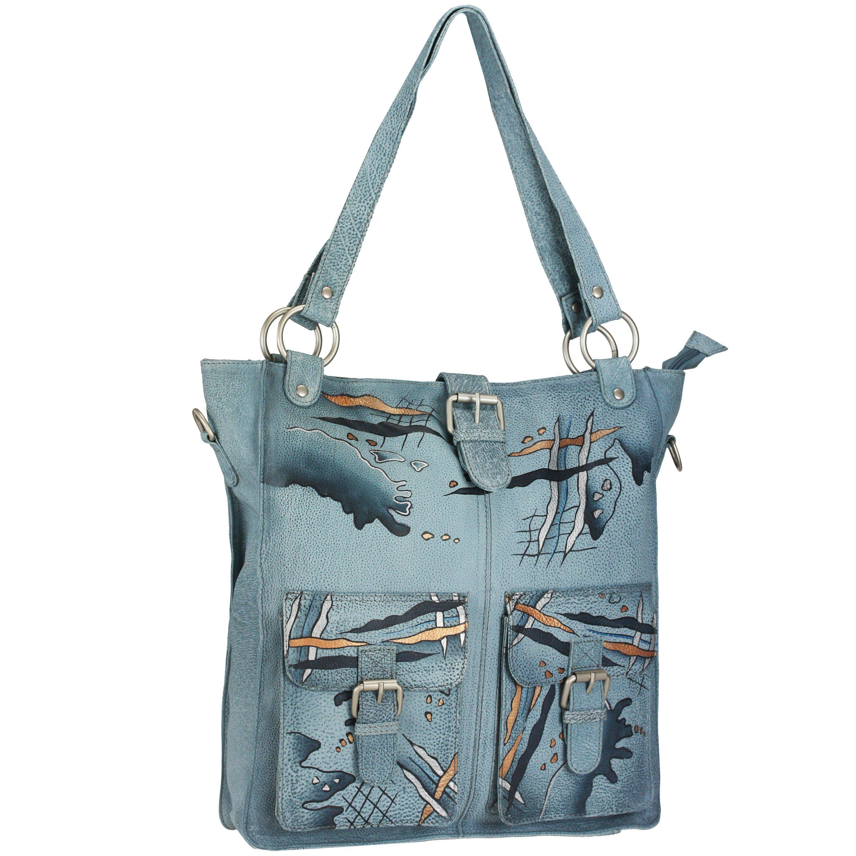 3445ee87e062b GREENLAND Art + Craft Henkeltasche Shopper Leder 33 cm