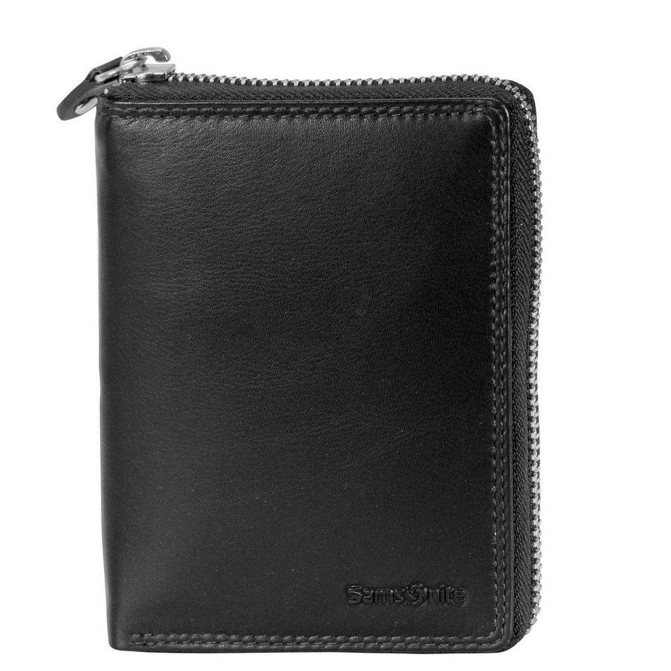 Samsonite Attack SLG Reißverschluss-Geldbörse Leder 13 cm in black