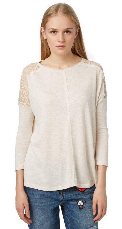 tom tailor denim t shirt shirt mit spitzen einsatz online kaufen otto. Black Bedroom Furniture Sets. Home Design Ideas