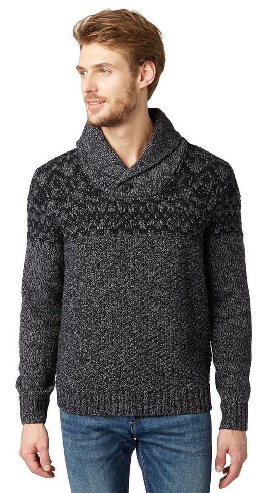 tom tailor pullover pullover mit schalkragen otto. Black Bedroom Furniture Sets. Home Design Ideas