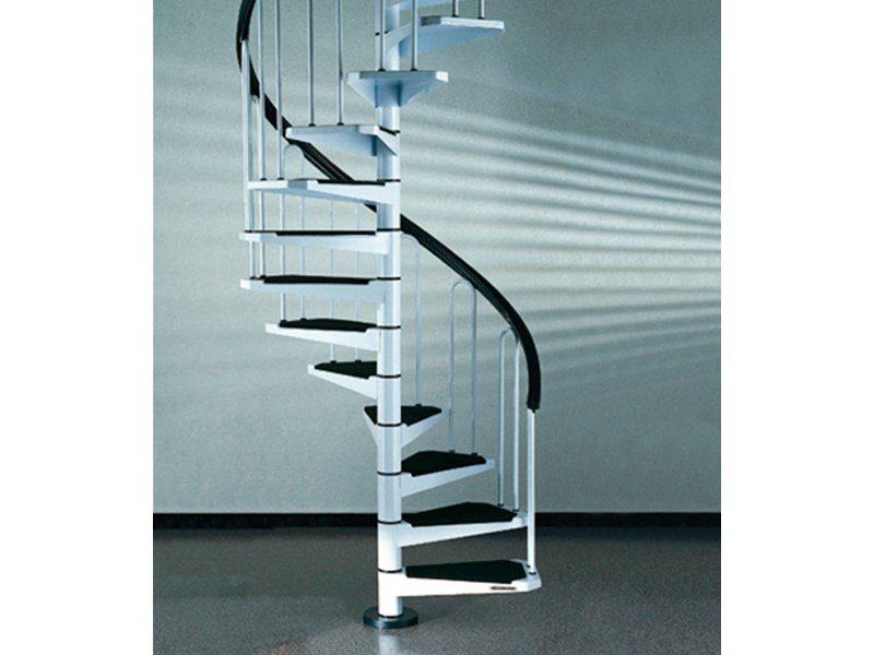 STARWOOD Spindeltreppe »AF26«, B: 110 cm, 12 Stufen, weiß