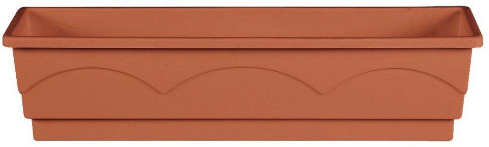 Blumenkasten »Lago A. Comfort«, terracotta (100 cm) in rot