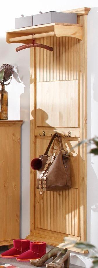 home affaire garderobe irma aus massiver kiefer mit. Black Bedroom Furniture Sets. Home Design Ideas